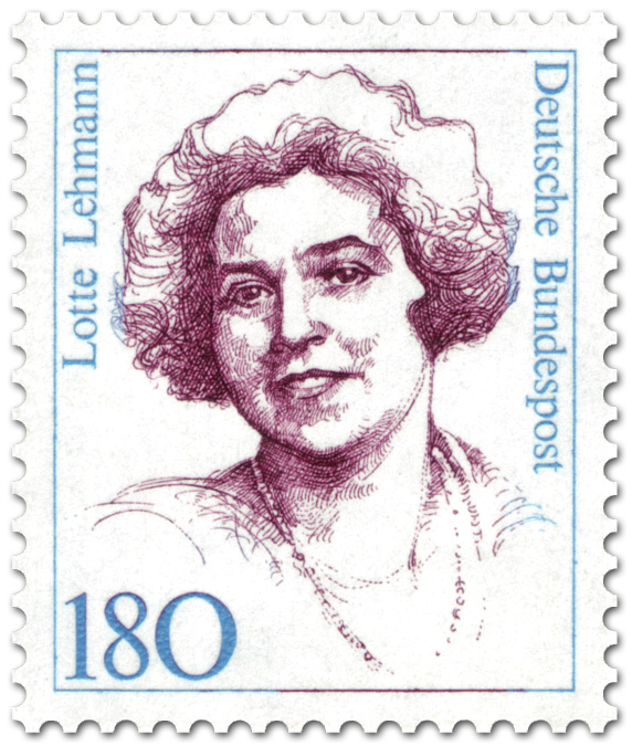 Briefmarke Lotte Lehmann